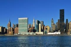 Środek miasta Manhattan przy słonecznym dniem Fotografia Royalty Free