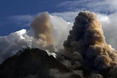 Środek wybuchowy Merapi góra, Yogyakarta Indonezja zdjęcia stock