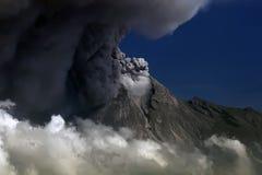 Środek wybuchowy Merapi góra, Yogyakarta Indonezja obrazy stock