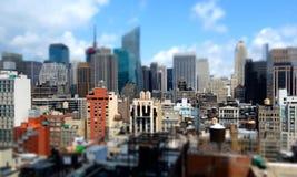 Środka miasta Manhattan budynki Zdjęcia Royalty Free