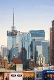 Środka miasta Manhattan budynki przy dniem fotografia royalty free