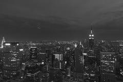 Środka miasta Manhattan nocy widok Obrazy Royalty Free