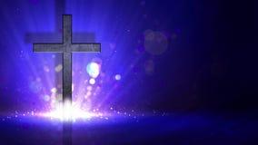 Środka wybuchowego krzyż na Błękitnej tło pętli ilustracji
