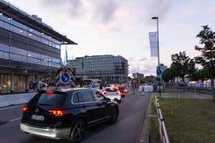 Środki bezpieczeństwa i milicyjne kontrola podczas Kieler Woche 2017 Obrazy Stock