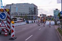Środki bezpieczeństwa i milicyjne kontrola podczas Kieler Woche 2017 Zdjęcie Stock
