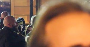 Środki i ochrona wokoło Emmanuel macron podczas oficjalnej wizyty w Strasburg zbiory wideo