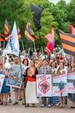 'środki masowego przekazu - przerwa kłama!' w Moskwa, Rosja Fotografia Royalty Free
