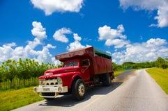 ŚRODKOWA droga KUBA, WRZESIEŃ, - 06, 2015: zadziwiać Fotografia Stock