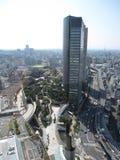 Środkowa dzielnica biznesu Osaka z budynkami i drogami obraz stock