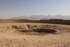 Środkowa jama wierza cisza przy Yazd, Iran zdjęcia royalty free