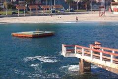 Środkowa miastowa plaża w Antofagasta, Chile fotografia stock