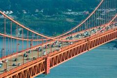 Środkowa sekcja Golden Gate Bridge, San Fransisco zdjęcie stock