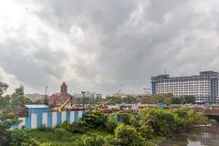 Środkowa stacja kolejowa, Chennai, India, Sierpień 25 2017: Widok sławni punkty zwrotni lubi południowego kolejowego budynek Zdjęcie Stock