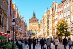 Środkowa ulica w Gdańskim Obrazy Royalty Free