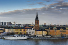 środkowa wyspa riddarholmen małego Stockholm Sweden Szwecja Zdjęcia Royalty Free