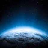 Środkowi Azja światła przy nocą Zdjęcia Stock