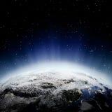 Środkowi Azja światła przy nocą Fotografia Royalty Free