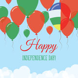 Środkowo-afrykański republika dnia niepodległości mieszkanie Fotografia Stock