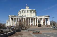 Środkowy Akademicki Theatre Rosyjski wojsko w Moskwa obraz royalty free