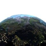Środkowy Azja na ziemi przy półmrokiem Fotografia Royalty Free