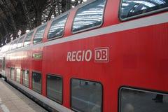 Niemiec pociąg - Deutsche Bahn Zdjęcie Stock