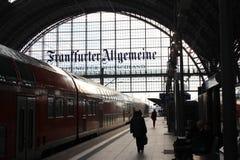 Frankfurt dworzec zdjęcie royalty free