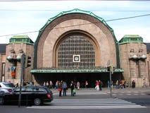 środkowy Helsinki staci pociągu widok Fotografia Royalty Free