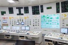 Środkowy kontrolny pokój elektrownia jądrowa Obrazy Stock