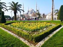 Środkowy park Istanbuł, marzec 29, 2018: Turysta obraz stock