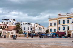 Środkowy plac Essaouira, Maroko Obrazy Royalty Free