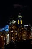 Środkowy plac nocą, Hong Kong Zdjęcie Royalty Free