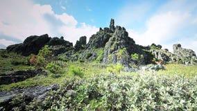 Środkowy Urals Rosja wierzchołek Siedem mężczyzna Plato blisko Konzhak góry Obrazy Stock