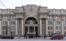 Środkowy urząd pocztowy w Minsk Białoruś obraz stock