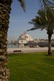 Środkowy Wschód, Katar, Doha, muzeum Islamska sztuka & Zachodni Podpalany Środkowy Pieniężny okręg od wschód zatoki okręgu, Obrazy Royalty Free