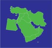 Środkowy Wschód mapa 2 Zdjęcie Stock
