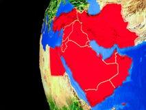 Środkowy Wschód od przestrzeni ilustracja wektor