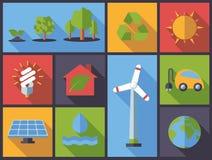 Środowisko życzliwych symboli/lów projekta wektoru płaska ilustracja Obraz Royalty Free