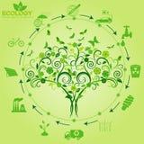 Środowisko, ekologia infographic elementy Środowiskowi ryzyko, Zdjęcia Stock