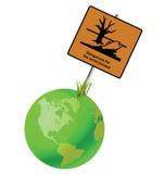 środowisko niebezpieczny znak Zdjęcie Royalty Free