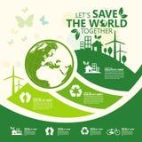 środowisko Pozwala ` s Save Wpólnie świat royalty ilustracja