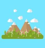 Środowisko z Wiatrowymi generatorami Zdjęcie Stock