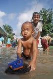 ŚRODOWISKOWA katastrofy szkody powódź Obraz Stock