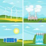 Środowiskowe i ekologia pojęcia ilustracje ilustracji
