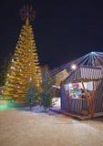 """Środowiskowy sztuka przedmiota """"Christmas drzewo love† przy Livu sq zdjęcia stock"""