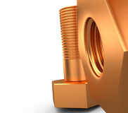 Śruba i rygiel, 3D Zdjęcie Stock