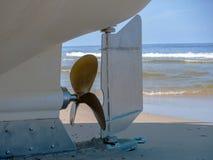 Śruba z łódkowatym rudder Zdjęcia Royalty Free