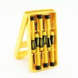 Śrubokręt w żółtym pakunku Zdjęcia Stock