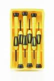 Śrubokręt w żółtym pakunku Zdjęcia Royalty Free