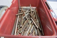 Śrubokrętu świderu kawałków rdzy Kierowniczy olej moczył Fotografia Stock