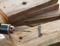 śrubowy świderu drewno Obraz Royalty Free